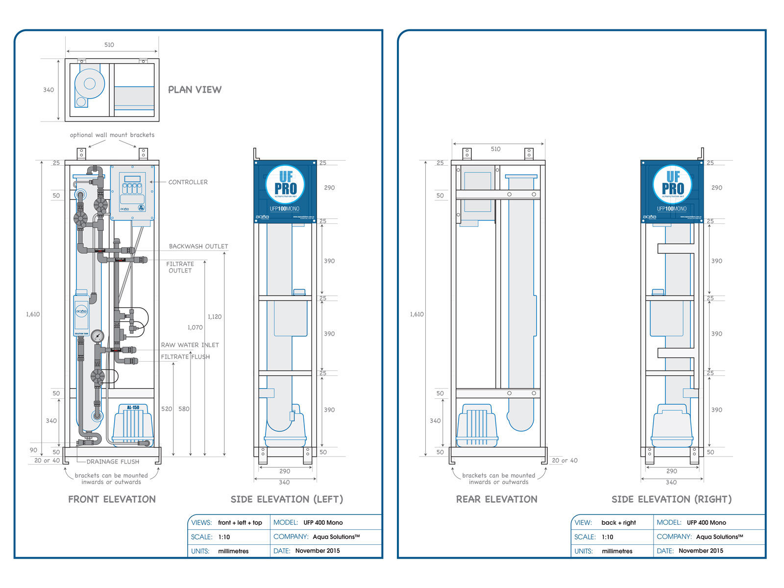 2D Technical Blueprint Product Drawings