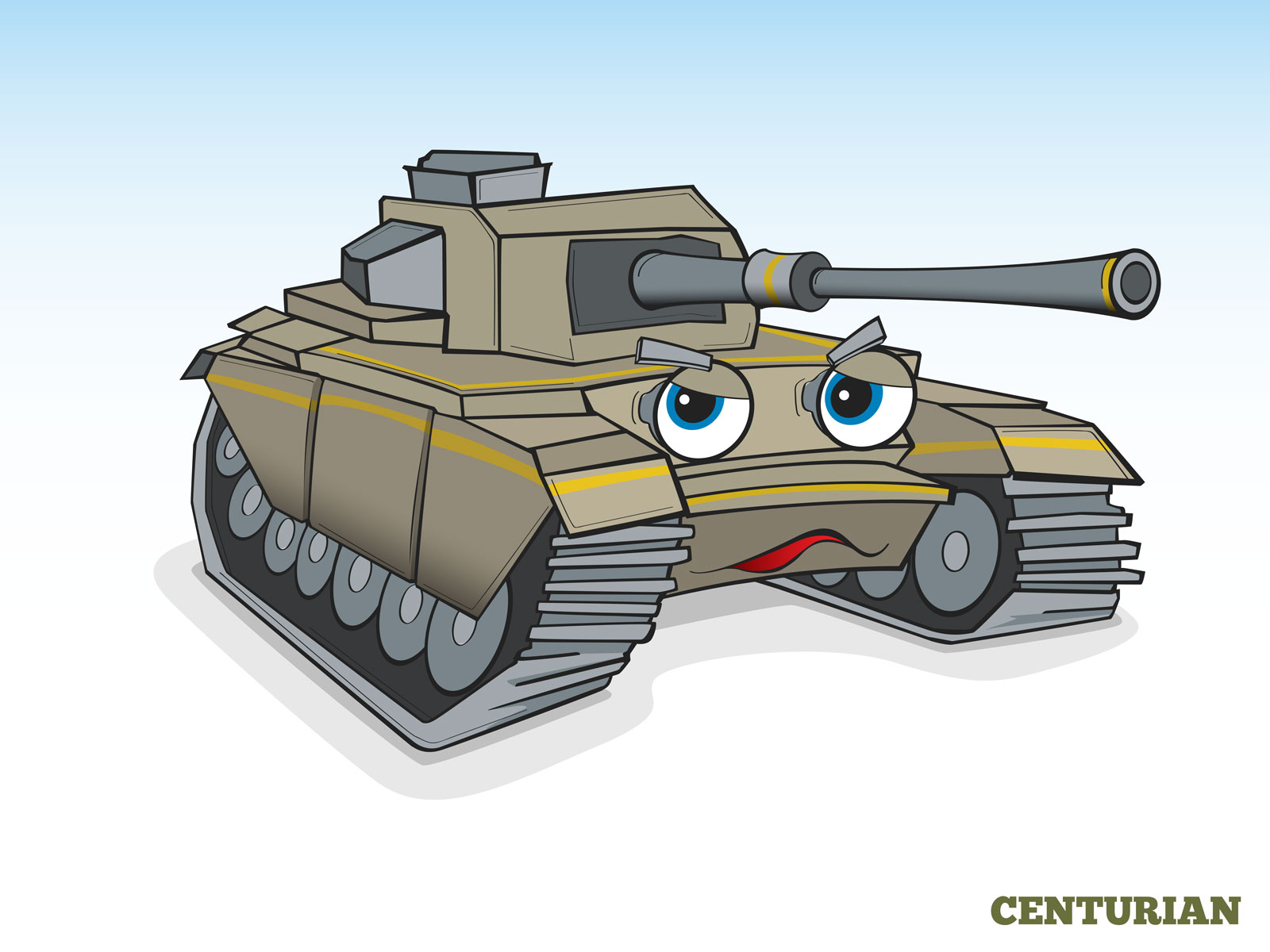 Cartoon style Humanising Tank Character