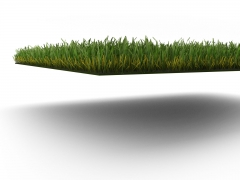 3D Realistic Product Model of Synthetic Lawn side view