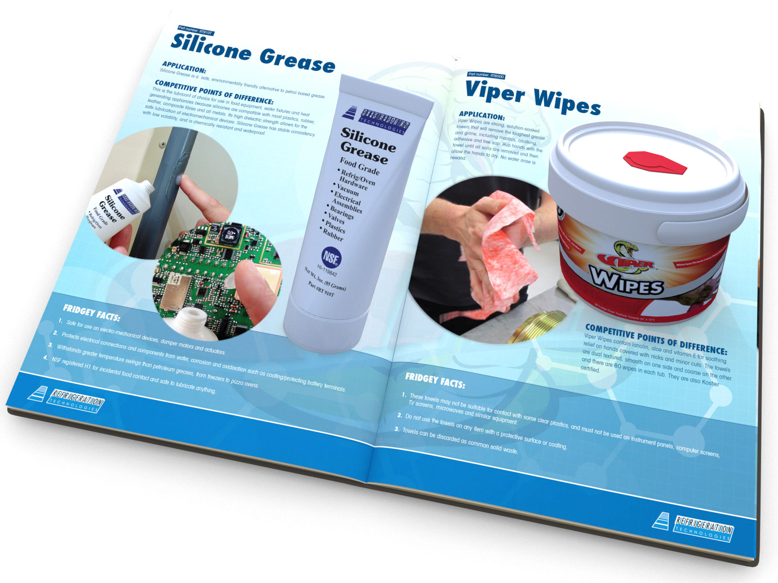 Technical brochure design and product catalogue
