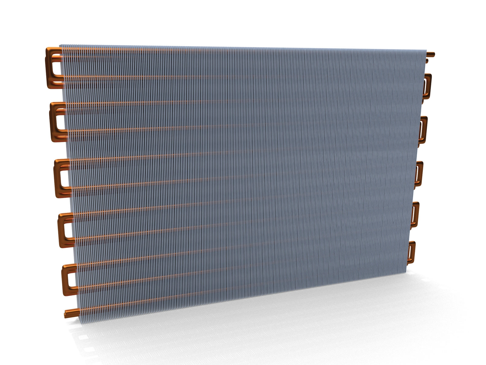 3D technical product model illustration of air conditioning coil