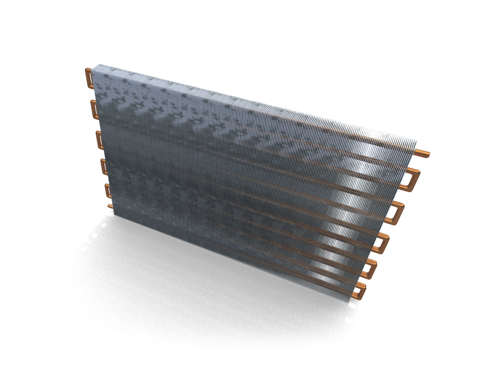 3D technical product model illustration of air conditioning coil top view