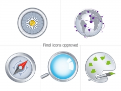 Final approved corporate icon set for Deloitte