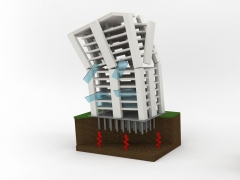 building falling down from earthquake